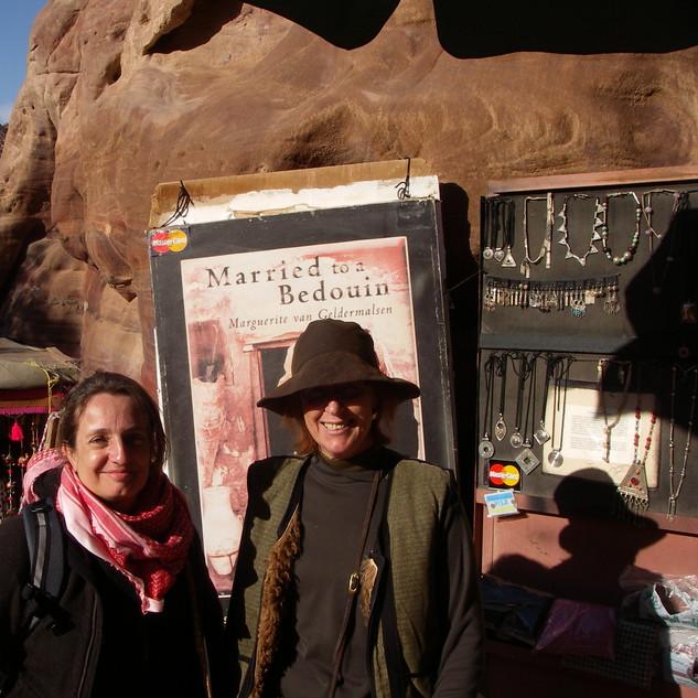 Met Marguerite van Geldermalsen in Petra