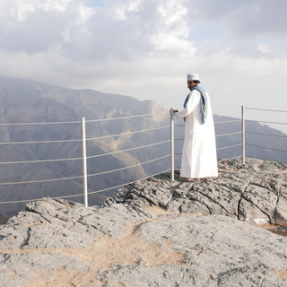 Omaniet bij Jabal Shams, rondreis Oman.JPG