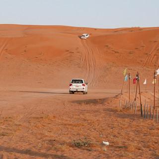 Racen in de woestijn, Wahiba Sands, Oman