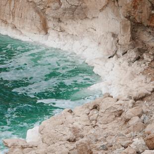 Zoutafzettingen bij de Dode Zee rondreis Jordanië.JPG