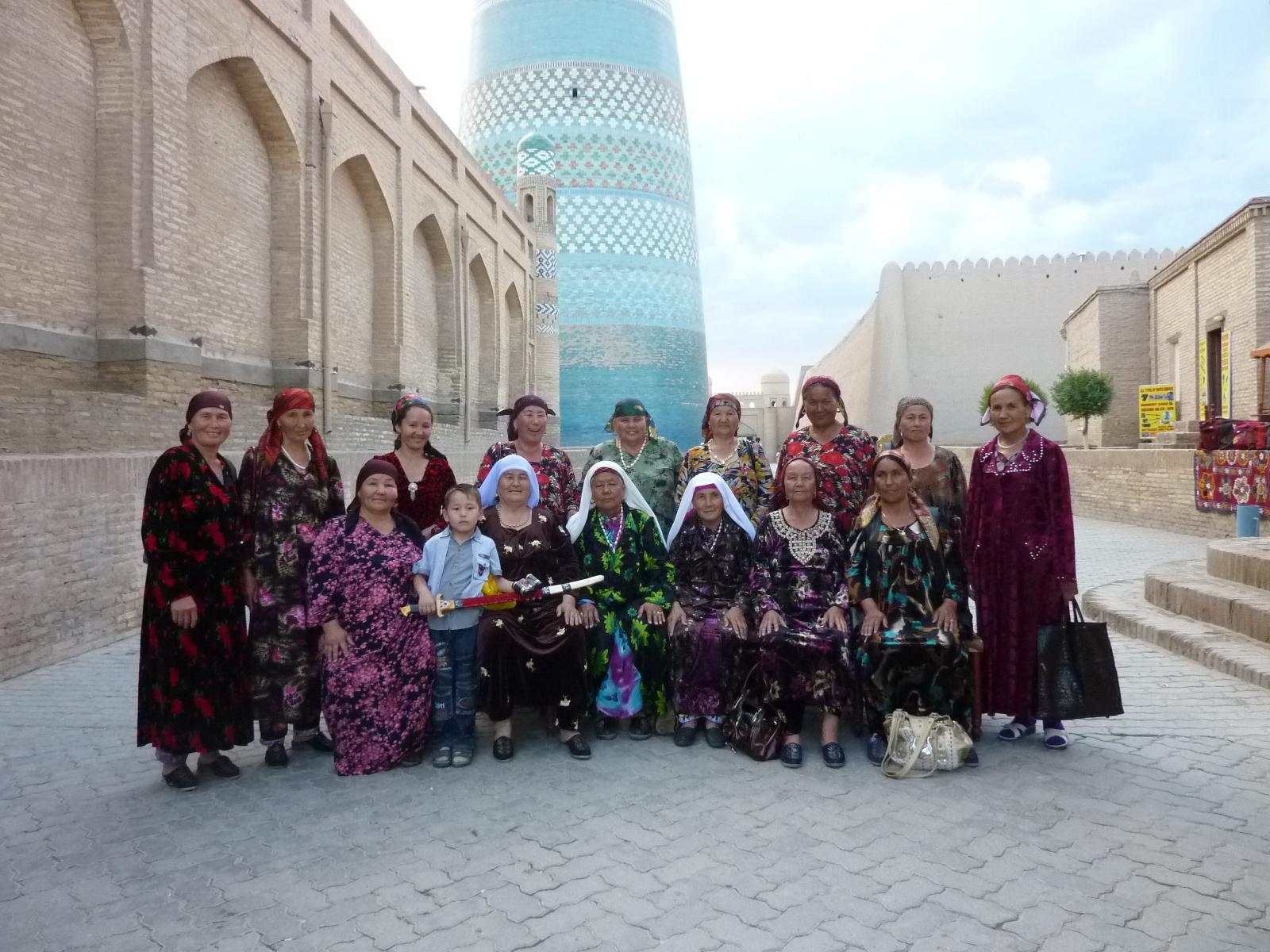 Poseren in  Khiva Oezbekistan