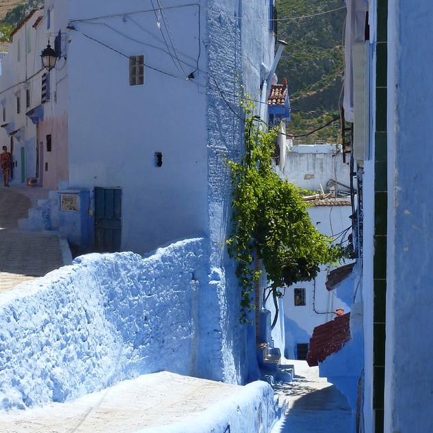 Mooi blauw in Chefchaouen, Marokko.JPG