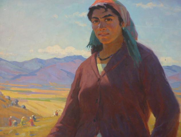 Moderne schilderkunst in Dilijan museum.