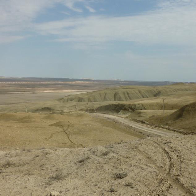 Woestijnlandschap Noord West Turkmenista