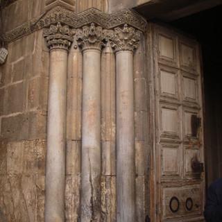 Ingang Heilig Grafkerk, Jeruzalem.JPG