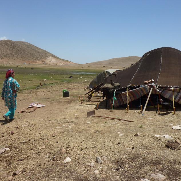 Op bezoek bij de bedoeienen, Marokko.JPG