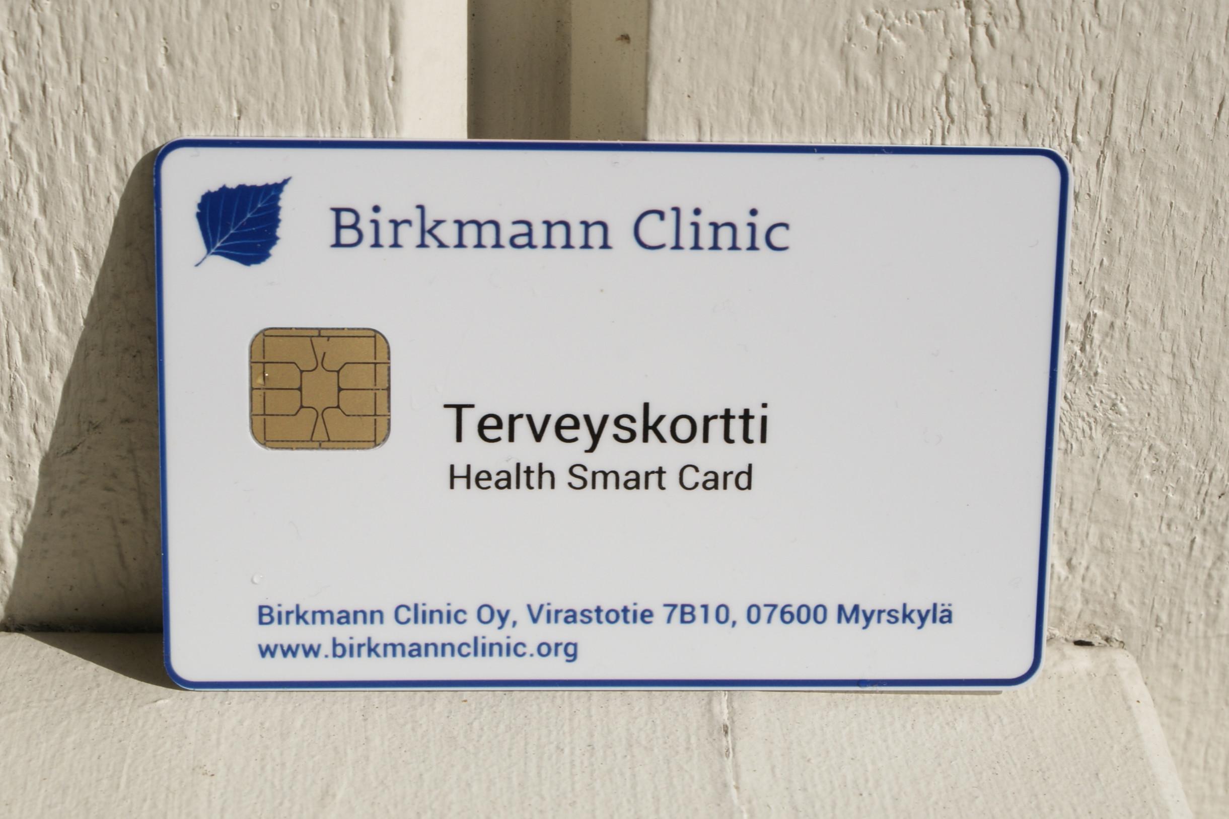 Terveyskortti (erikseen laadittuna)