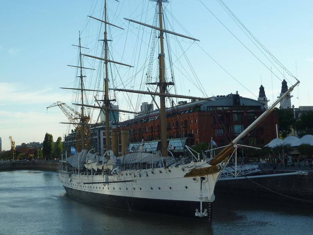 Ship by Puerto Madero