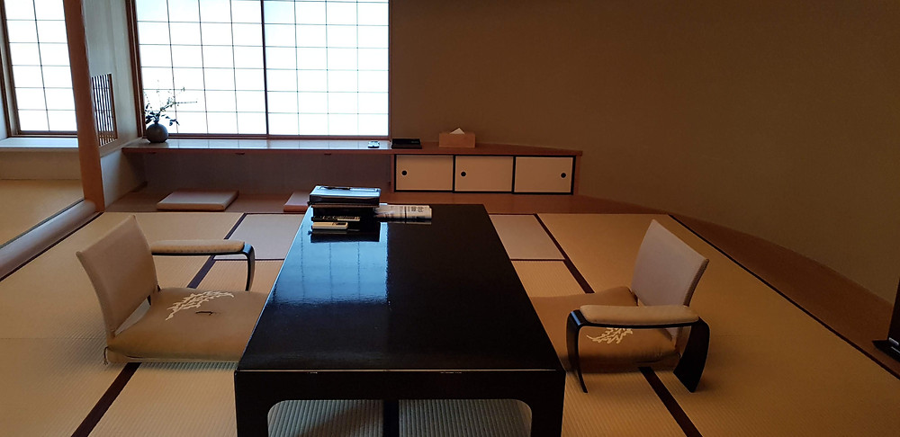 Tatami Mat Room in Ryokan, Kyoto, Japan