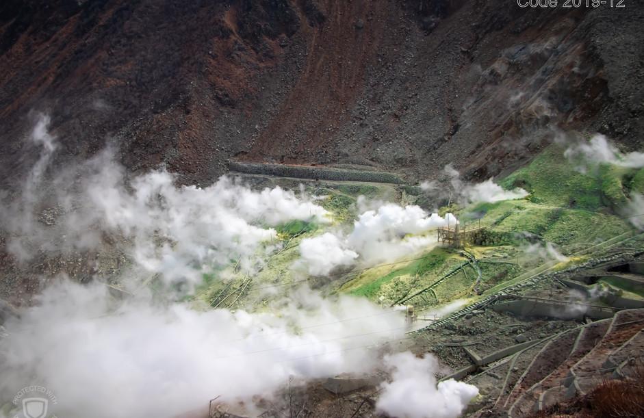Post Eruption in Japan