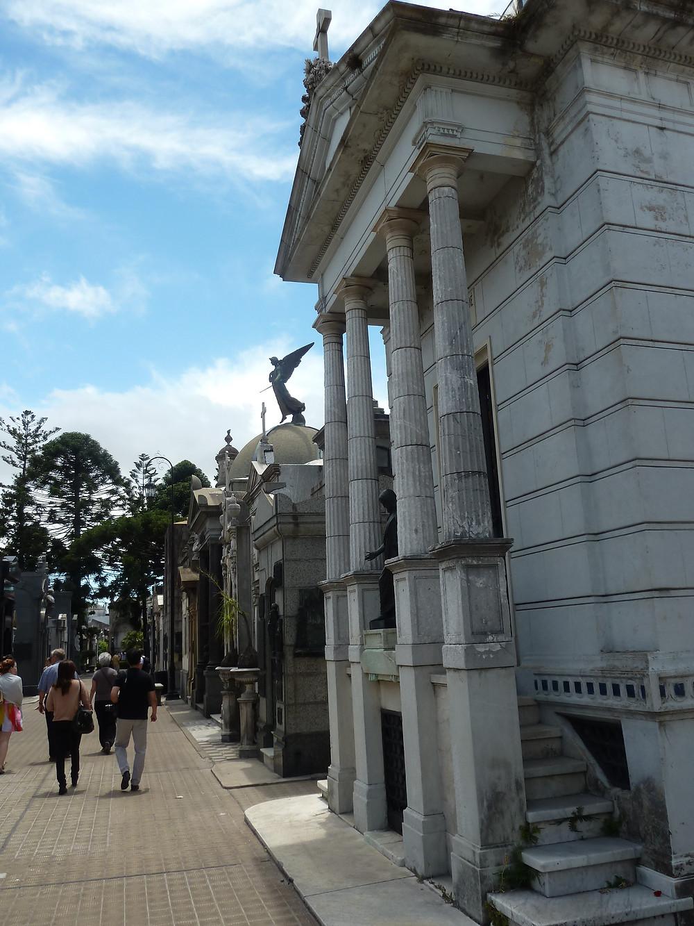 Big tombs of Recoleta Cemetary