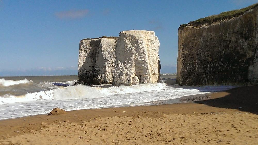 English Beach with White Rocks