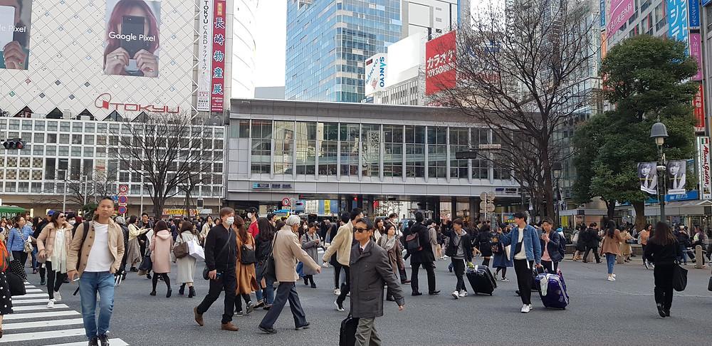 Shibuyo Crossing, Tokyo, Japan
