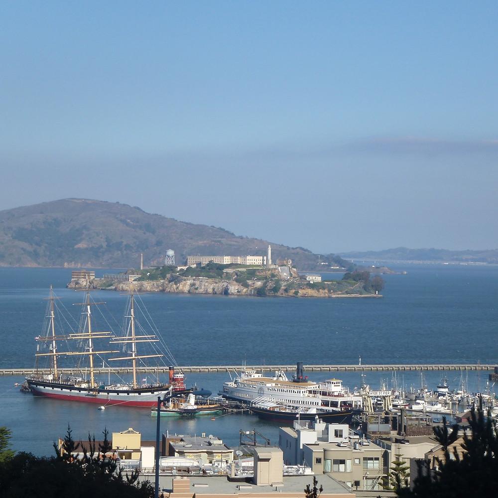 Bay view of Alcatraz