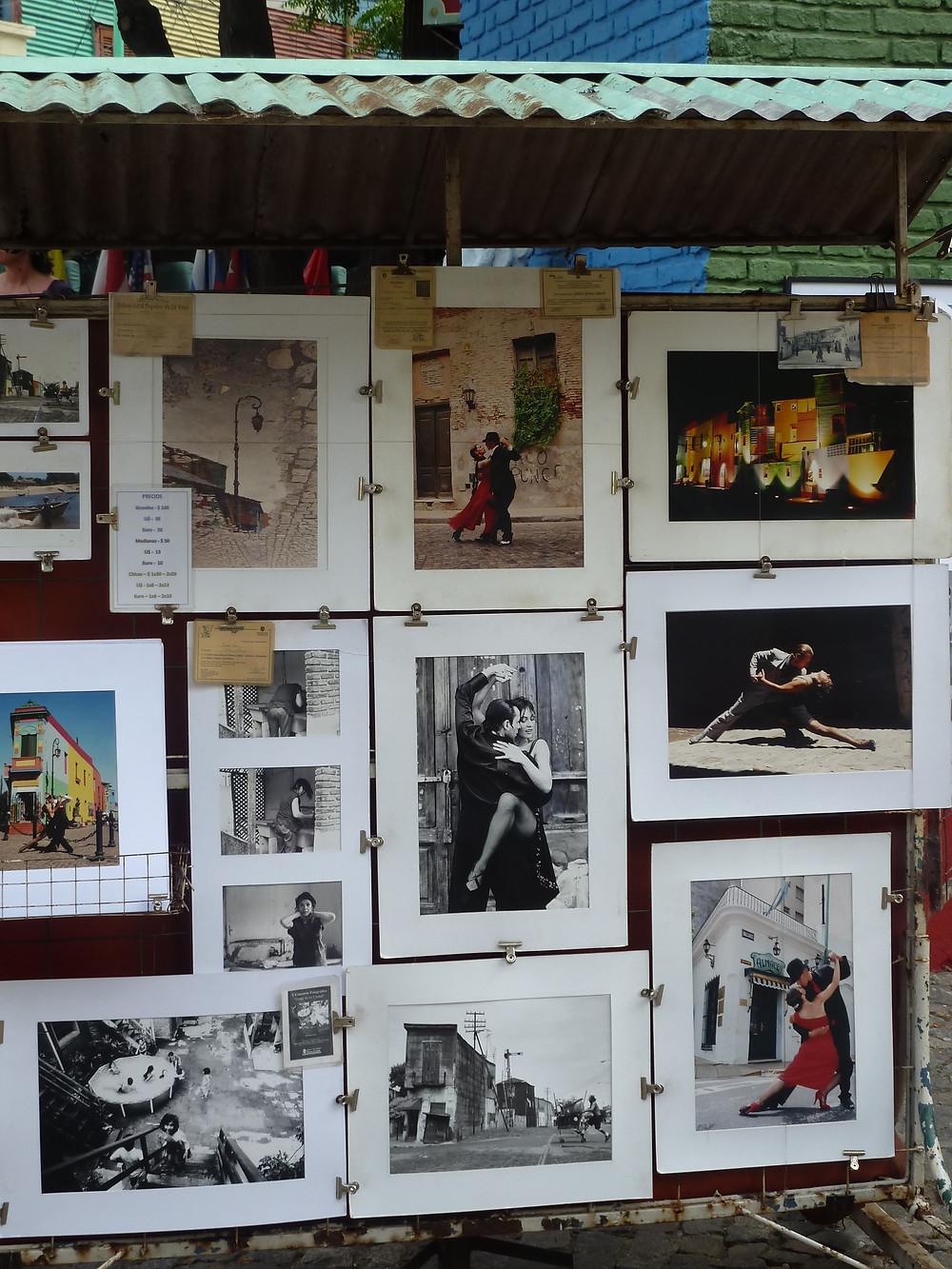 Tango pictures in La Boca