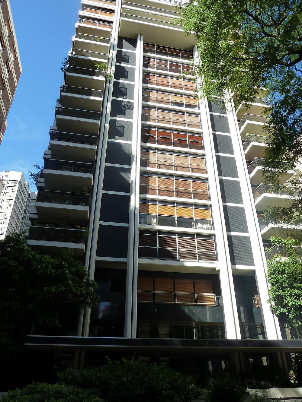 Modern Building in Recoletta Neighborhood of Buenos Aires