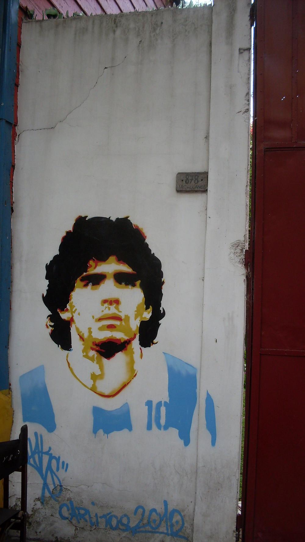 Maradona Wall Art Graffiti