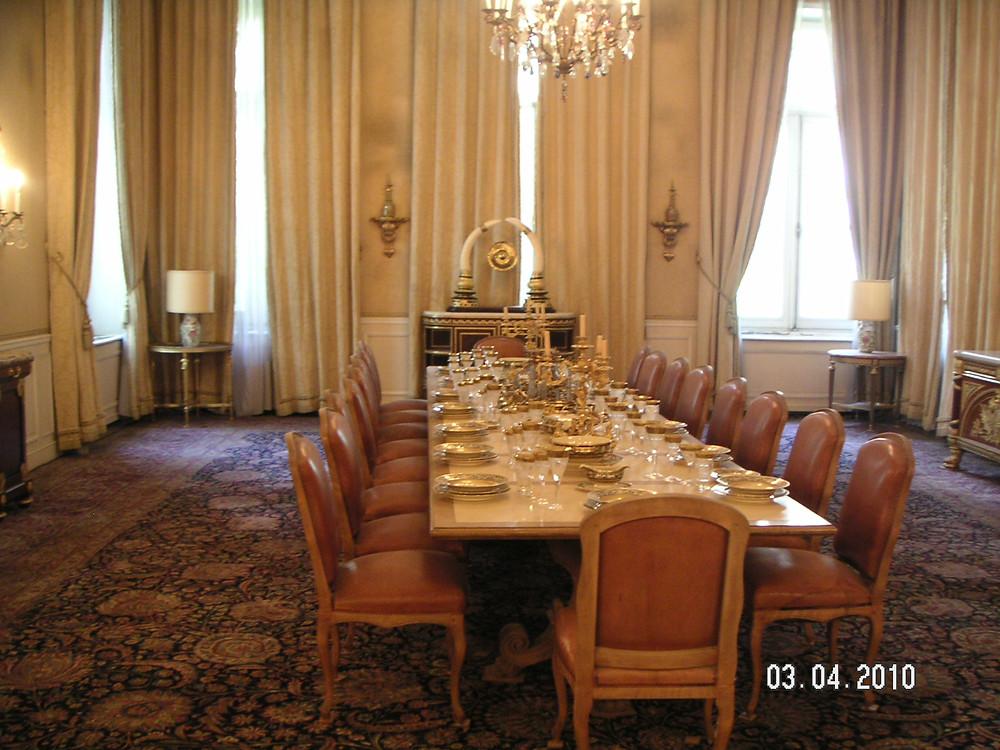 Dining Room in Sabaydabad Palace