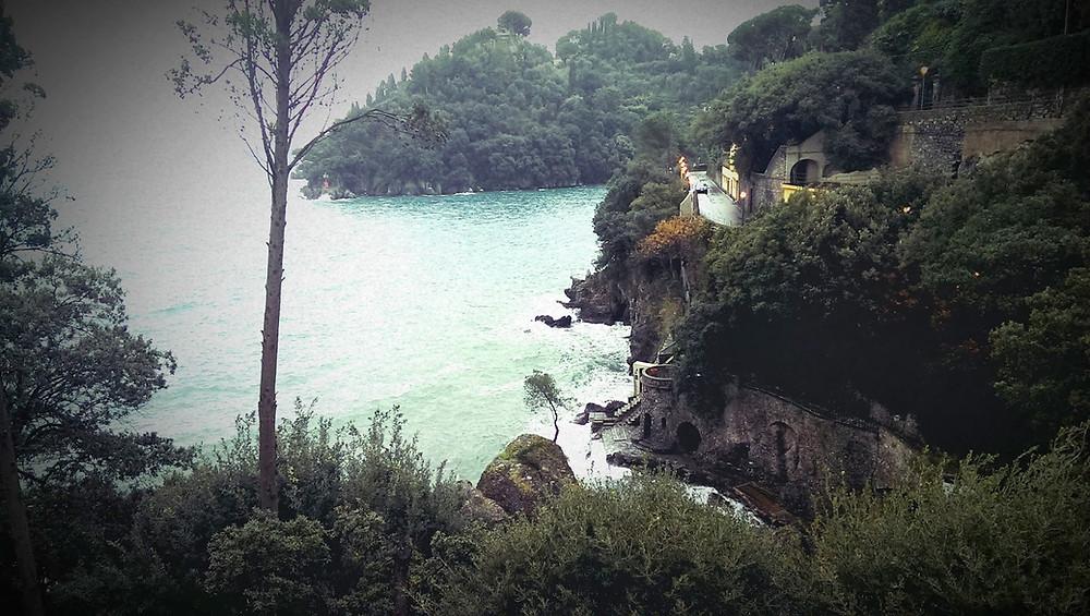 View from our hotel in Portofino