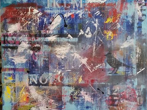 Painting on canvas 100cm x 80cm