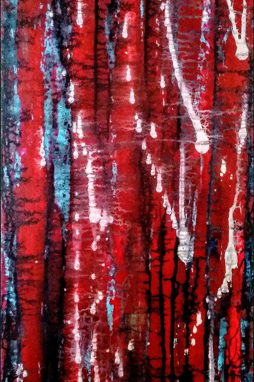 Painting on canvas 120cm x 40cm