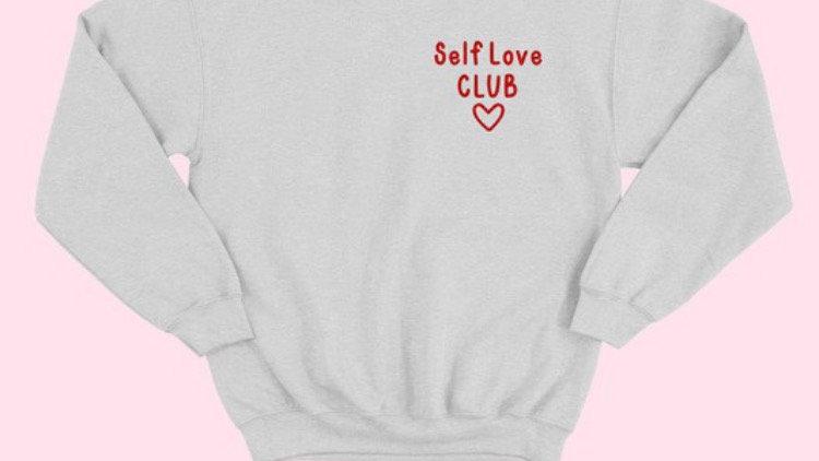 Self love club in grey