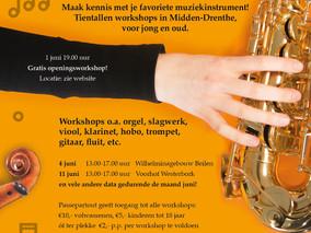 Kies je instrument! Workshops in Midden Drenthe