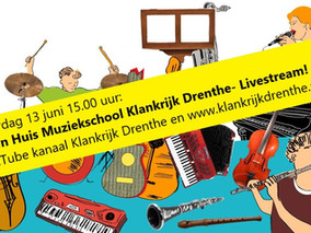 13 juni Open Huis - Livestream op YouTube!