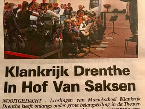 Klankrijk Drenthe in de krant!