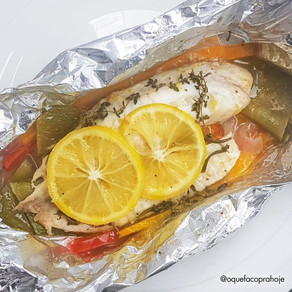 Peixe branco no Papilote