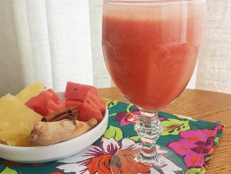 Suco de Abacaxi com Melancia
