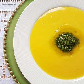 Sopa de Baroa com Pesto de Rúcula