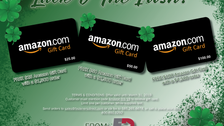LUCK O' THE IRISH! This month receive a FREE Amazon gift card with a qualifying order!