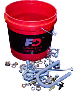 Pail with bolts