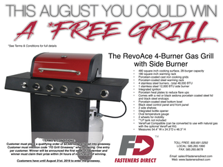 YOU COULD WIN A FREE GRILL