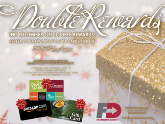 This December, Get Double Rewards!