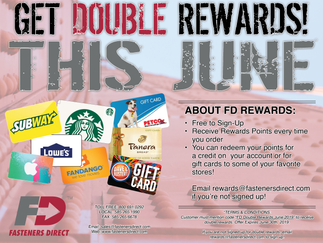 This June, get DOUBLE rewards!!