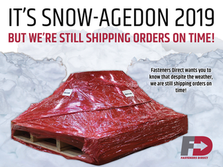 It's snow-agedon 2019... but we're still shipping orders