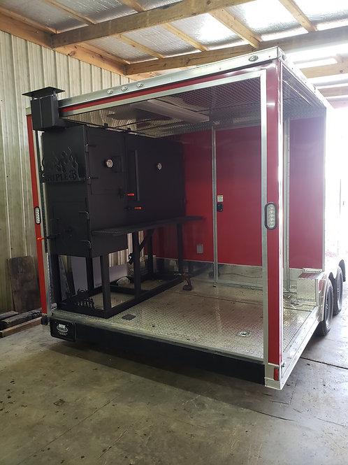 Custom Built concession trailer smokers