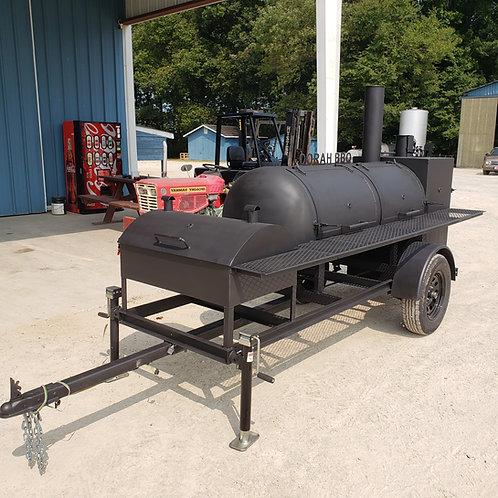 250gal RF, charcoal grill, warmer box, & firebox