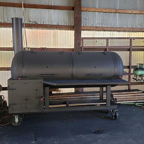 250gal reverse flow smoker on casters