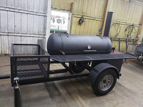 120gal reverse flow smoker w/3×2 front storage