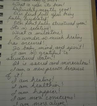 My Structured Water 2014! (Journal Entry)