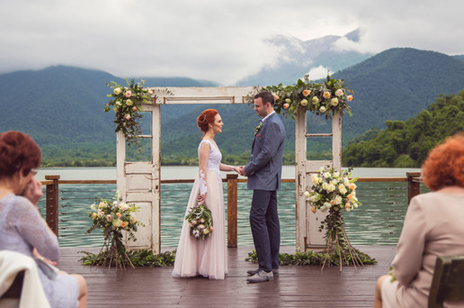 Evgenia & Alexander's Tender Vintage Wedding @ Kvareli Lake Resort, Kakheti, Georgia