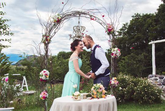 Baia & Otto's Colorful Shabby Chic Wedding @ Tsodoreti, Georgia