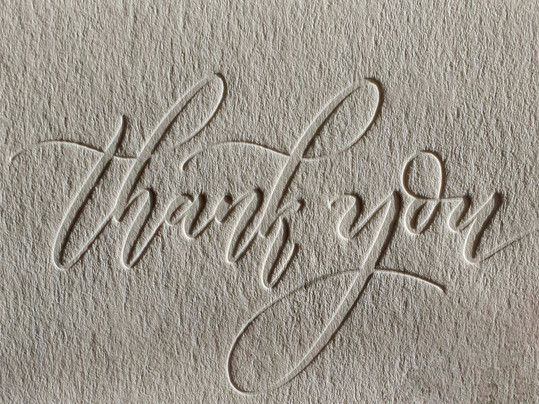 Thank You Cards (Blind Deboss)
