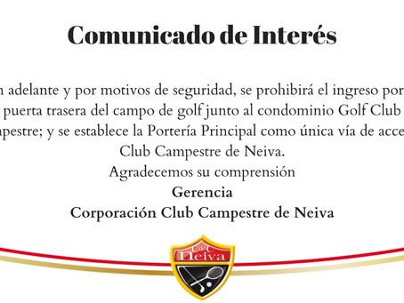 Comunicado Oficial: Acceso al Club