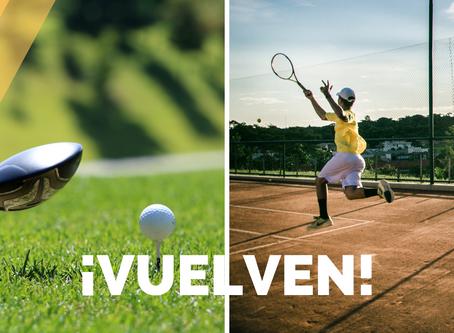 En junio regresan los juegos de golf y tenis