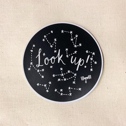 look up sticker