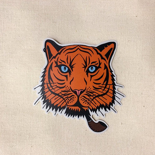 tiger pipe sticker
